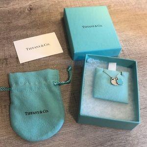 Brand New Tiffany & Co. Mini Double Heart Necklace
